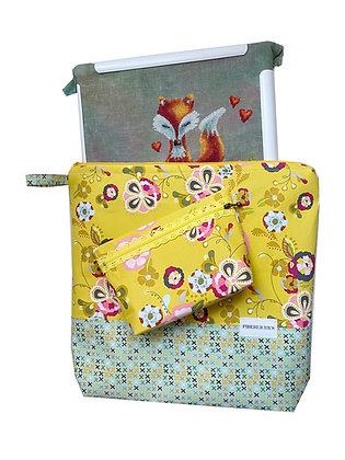 Cross stitch Large Project Bag Set of 2
