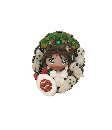 Princess Mononoke -Original Clay Art