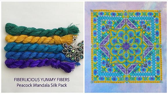 Peacock Mandala Silk Pack