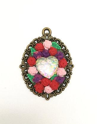 Mermaid Heart in Rose Bouquet