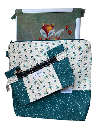 Whimsical Large Project Bag Set of 2