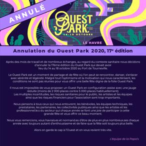 Le Ouest Park au Havre est annulé