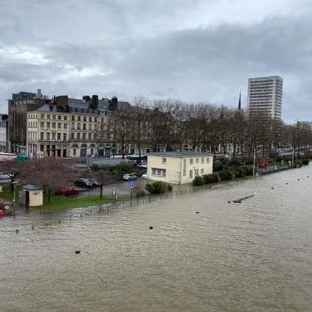 La Seine déborde à Rouen