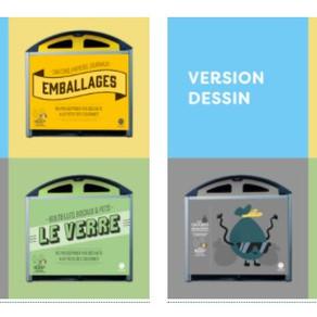 Un appel au vote pour le nouveau design des conteneurs à déchet