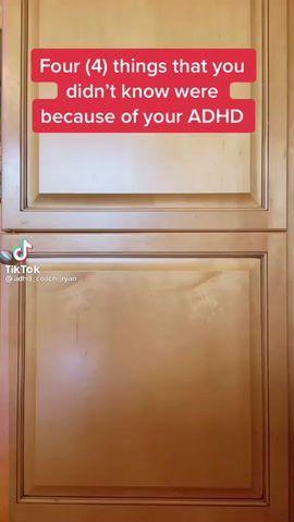 'I didn't know it's because I have ADHD'- Insightful information on how ADHD can present.