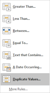 Microsoft Excel Highlight Duplicate Values