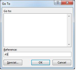 Microsoft Excel Go To Menu