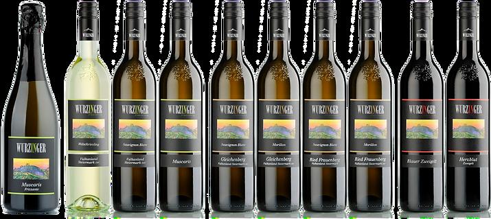 Frizzante, Weißweine und Rotweine aus Bad Gleichenberg - mit der Baumpresse gepresst - das komplette Weinsortiment von Weinbau Wurzinger in der Steiermark.