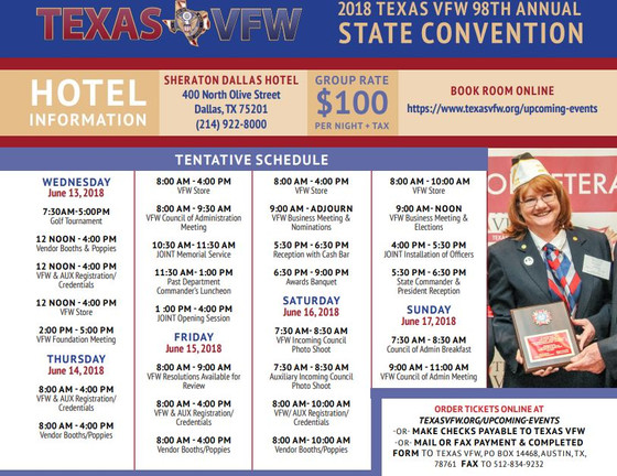 2018 Texas VFW 98th State Convention