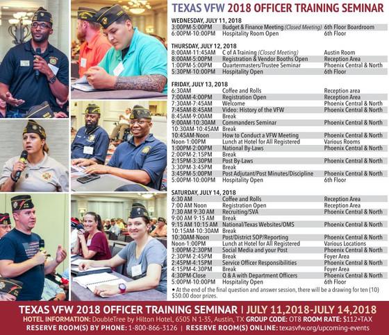 2018 Texas VFW Officer Training Seminar