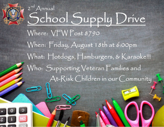VFW Post 8790 collects school supplies for veterans' families