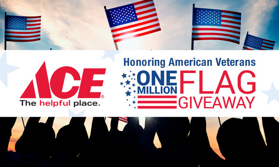 The VFW and Ace collaborate to distribute 1 million American flags nationwide this Memorial Day