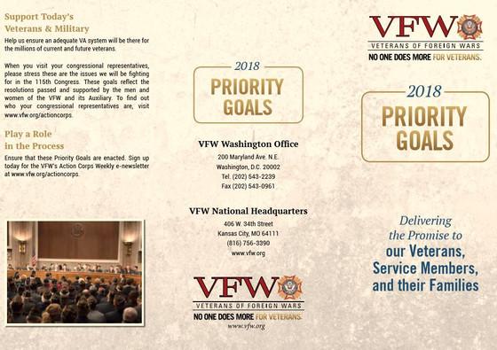 2018 VFW Priority Goals