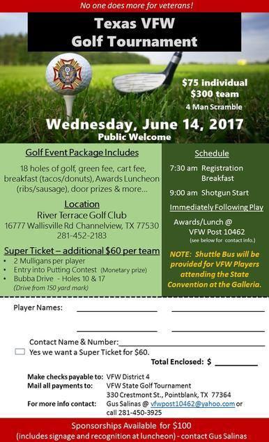 Texas VFW Golf Tournament
