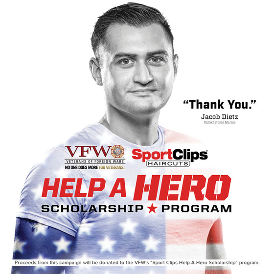 VFW-Sport Clips Scholarship Program Tops $4 Million!