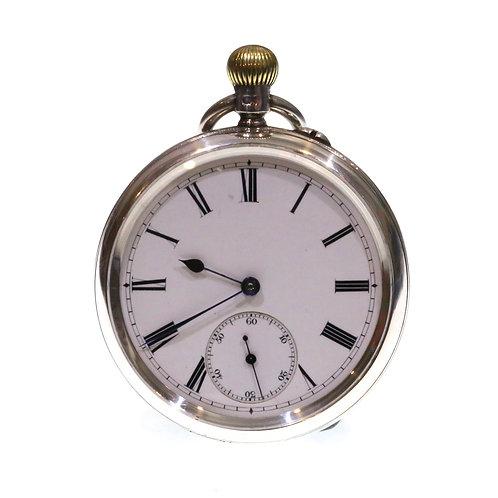 1894 Open Face Silver Keyless Pocket Watch