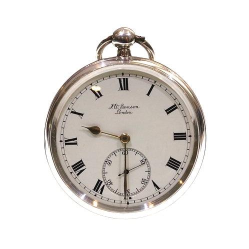 1891 J.W. Benson Pocket Watch Going Barrel Lever