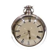 1825 Pair Cased Silver Fusee Verge Pocket Watch