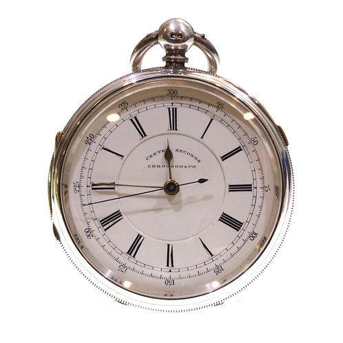 1893 Fusee Lever Chronograph Pocket Watch