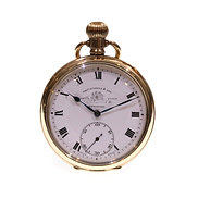 C1910 T Russell Open Face Keyless Pocket Watch