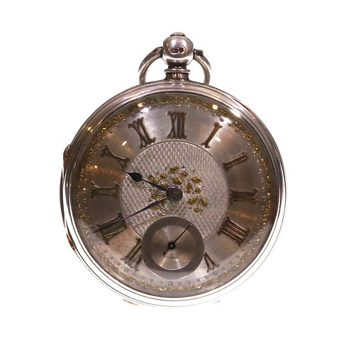 1881 Open Face Adam Burdess Silver Pocket Watch