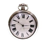 1824 Pair Cased Silver Fusee Verge Pocket Watch