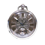 1886 Open Face Silver Fusee Lever Pocket Watch