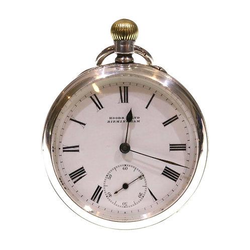1903 Open Face Silver Keyless Pocket Watch