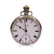 1912 Open Face Silver Keyless Pocket Watch