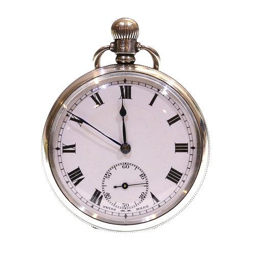 1922 Open Face Keyless Pocket Watch