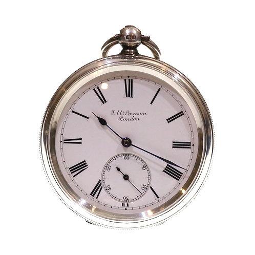 1904 J.W. Benson Pocket Watch Going Barrel Lever