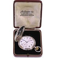 1926 J W Benson Keyless Half Hunter Pocket Watch