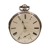 1839 Massey Patent Pocket Watch Silver Fusee