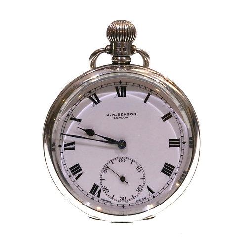 1934 J.W. Benson Pocket Watch Keyless Lever