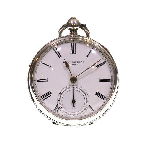 1895 John Forrest Silver Fusee Lever Pocket Watch