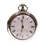 1810 Pair Cased Silver Fusee Verge Pocket Watch