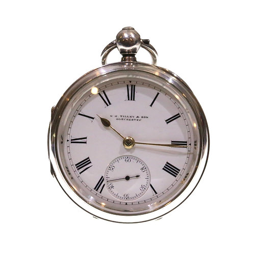 1902 Silver Going Barrel Lever Pocket Watch