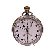 1924 Complicated Swiss Chronograph Pocket Watch
