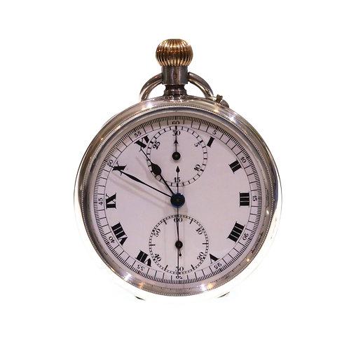 1924 Complicated Swiss Chronograph Pocket Watch