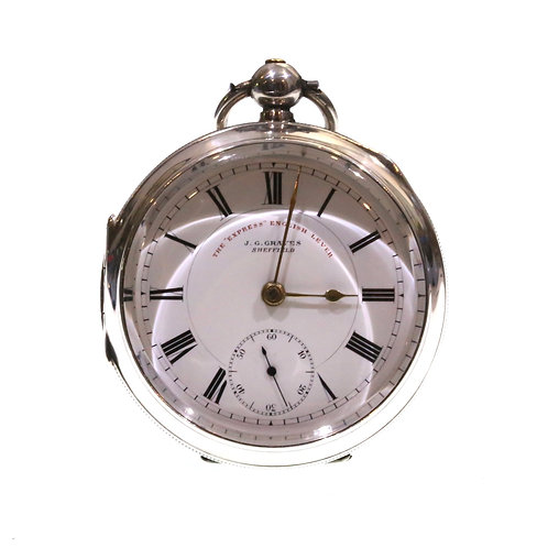 1905 J.G. Graves Silver Lever Pocket Watch