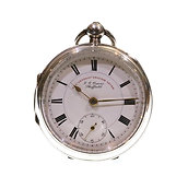 1904 J.G. Graves Silver Lever Pocket Watch