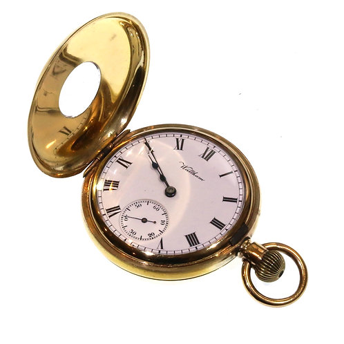 1909 Keyless Waltham Half Hunter Pocket Watch