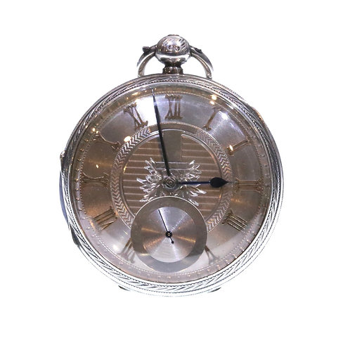 1889 John Forrest Pocket Watch Silver Fusee Lever