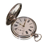 1826 Full Hunter Pocket Watch Silver Fusee Verge