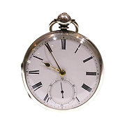 1862 Open Face Pocket Watch Silver Fusee Lever