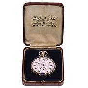 1919 J.W. Benson Pocket Watch Keyless Lever