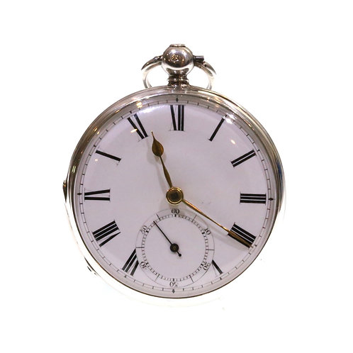 1859 Open Face Pocket Watch Silver Fusee Lever