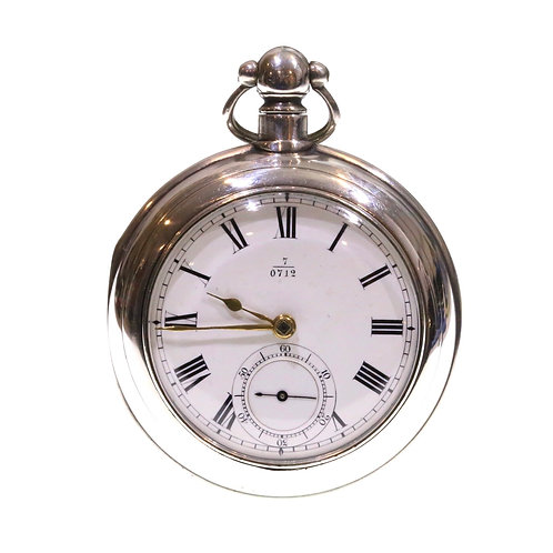 1867 Pair Cased Pocket Watch Silver Fusee Lever