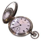 1917 Keyless Silver Waltham Hunter Pocket Watch
