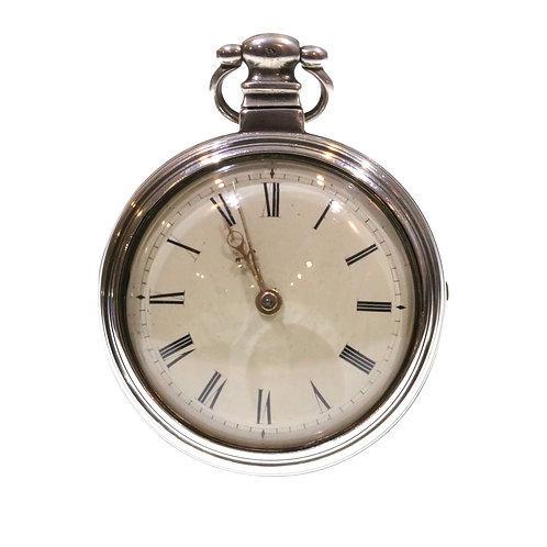 1813 Pair Cased Silver Fusee Verge Pocket Watch